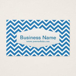 Retro Blue Chevron Consultant Business Card