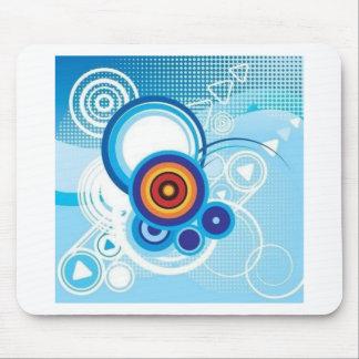 retro blue effect mouse pad