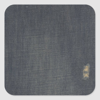 Retro Blue Old Faded Ripped Denim Texture Stickers