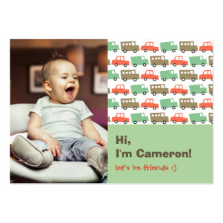 Retro Boys Toys Transport Kids Photo Playdate Card Pack Of Chubby Business Cards