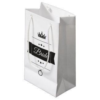 Retro Bride typography design Small Gift Bag