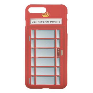 Retro British Telephone Booth Red Personalized iPhone 8 Plus/7 Plus Case