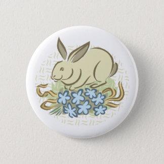 Retro Bunny 6 Cm Round Badge