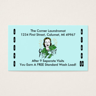 Retro Business Punch Cards Any business happy shop