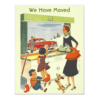 Retro Busy Home We have Moved Move Announcement