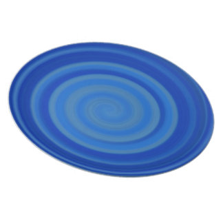 Retro Candy Swirl in Blueberry Blue Party Plates