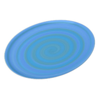 Retro Candy Swirl in Blueberry Party Plates