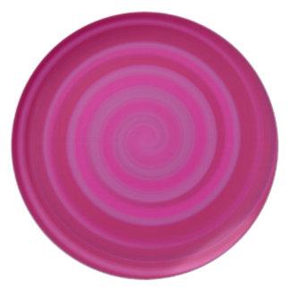 Retro Candy Swirl in Plum Dinner Plate