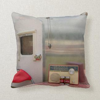 Retro Caravan American Mojo Pillow/CushionA Throw Pillow