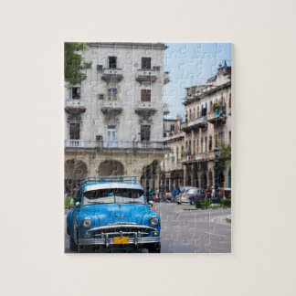 Retro cars on the Havana street Jigsaw Puzzle