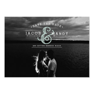 Retro Chic Save The Date Photo Card