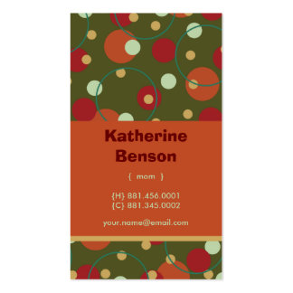 Retro Circle Custom Photo Mom Calling Profile Card Business Cards
