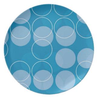 Retro circles party plates