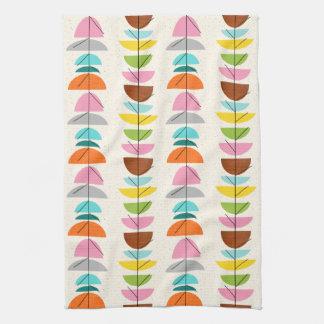 Retro Colorful Nests Kitchen Towel
