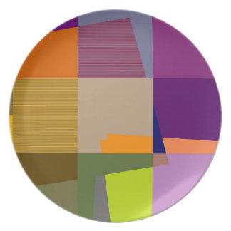 Retro Colorful Pop Art Plate