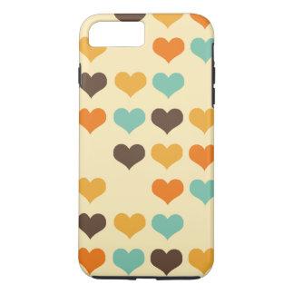 Retro Colors Hearts Pattern iPhone 8 Plus/7 Plus Case