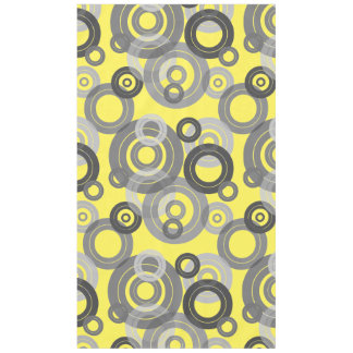 Retro concentric rings / vinyl records tablecloth