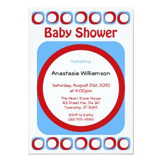 Retro Cool Baby Shower invitations