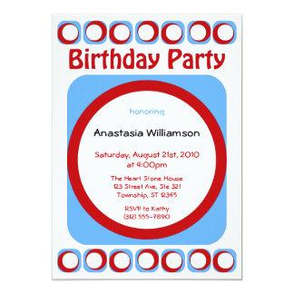 Retro Cool Birthday Party invitations