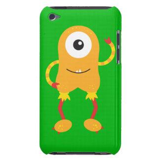 Retro Cute Orange Monster iPod Touch Cases