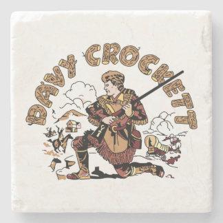 Retro Davy Crockett Stone Coaster