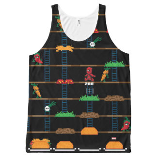 Retro Deadpool Taco Video Game All-Over Print Tank Top