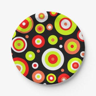 Retro design 7 inch paper plate