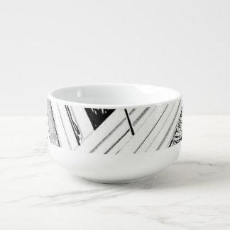Retro Doodle Soup Bowl Soup Mug