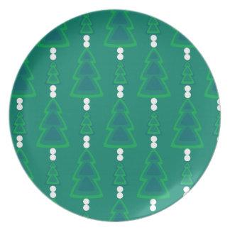 Retro Evergreens Plate