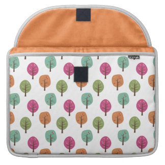 Retro Fall Trees Pattern Sleeves For MacBooks