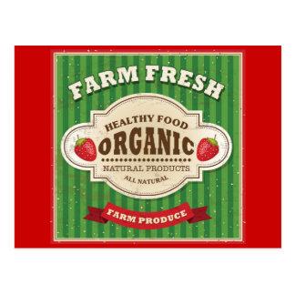 Retro Farm Fresh Poster Design Postcard