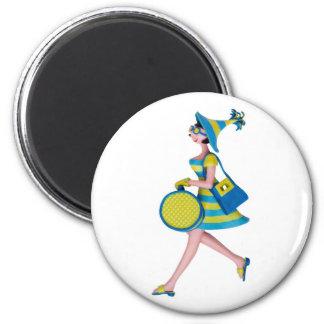 Retro Fashion Woman Fridge Magnets