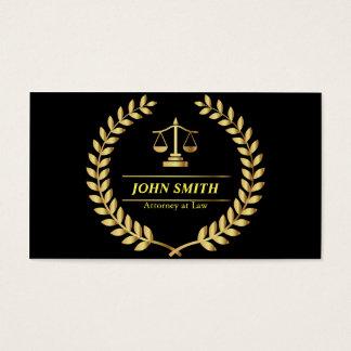 Retro Faux Gold Libra Laurel Professional Attorney Business Card