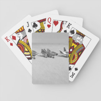 Retro Fighter Jet Playing Cards