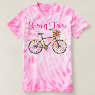 Retro Floral Bicycle Spring Fever Tees