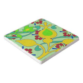Retro Floral Design Trivet