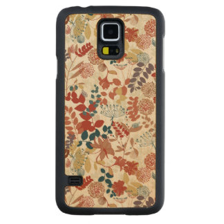 Retro floral pattern 4 carved maple galaxy s5 case