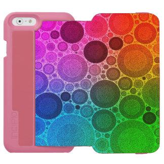 Retro Florescent Pattern Incipio Watson™ iPhone 6 Wallet Case