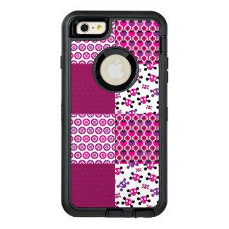 Retro flower skull polka dot OtterBox iPhone 6/6s plus case