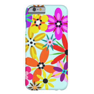 Retro Flowers Floral Barely There iPhone 6 Case