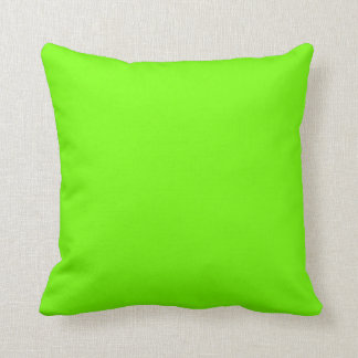 Retro Fluoro Lime-Green Collection Throw Pillow