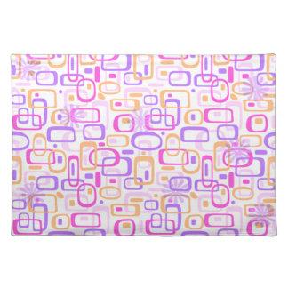Retro Funky Atomic Mid-Century Pink Purple Placemat