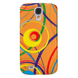 Retro Funky Circle Design Galaxy S4 Case