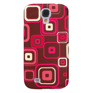 Retro Funky Square Design Galaxy S4 Case