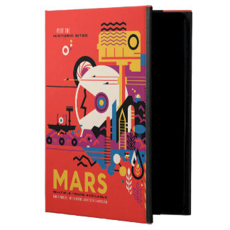 Retro Futurist Mars Space Tourism Illustration Powis iPad Air 2 Case