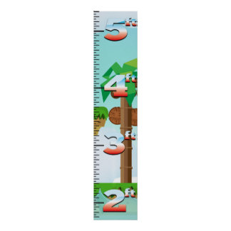 Retro Game Growth Chart Poster