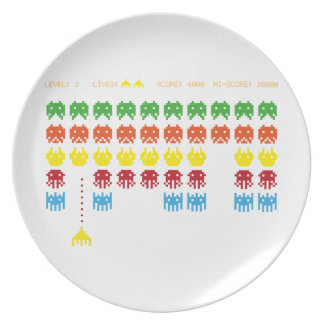 Retro Game Dinner Plate