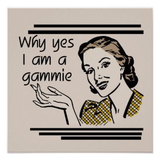Retro Gammie T-shirts and Gifts Poster