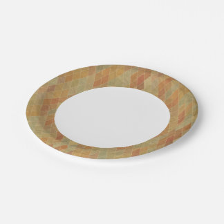 Retro geometric pattern 2 7 inch paper plate