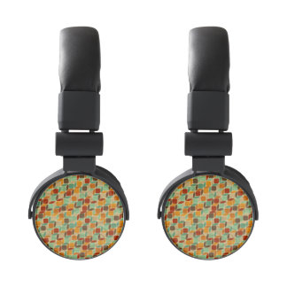 Retro geometric pattern 4 headphones